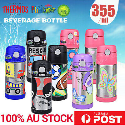 THERMOS Funtainer Kids stainless steel Vacuum Insulated Drink water Bottle 355ml