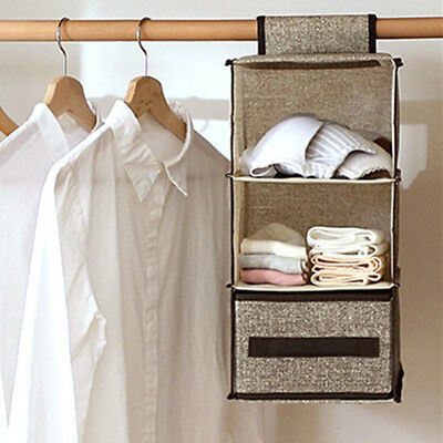 Hanging Bag Clothes Garment Holder Rack Closet Organiser Storage Wardrobe