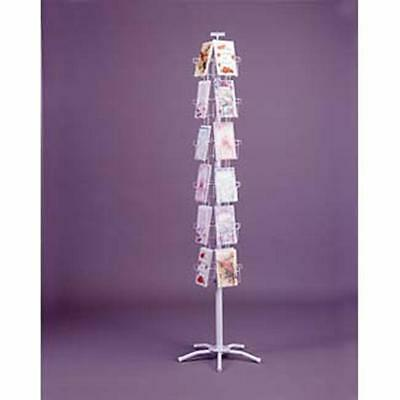 "Greeting Card Spinner Floor Rack 7"" x 5"" 24 Pocket White 5"" x 7"" Combination NEW"