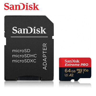 Sandisk Extreme PRO 64GB microSDXC UHS-I Card 170MB/s V30 U3 A2 Tracking Include