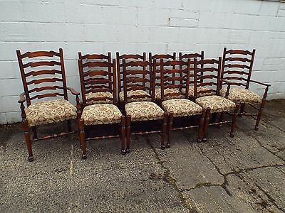 ROYAL OAK 10 Solid Oak Antique Style Dining Chairs