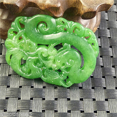 Old Chinese hand carved jade body art necklace pendant decoration antique