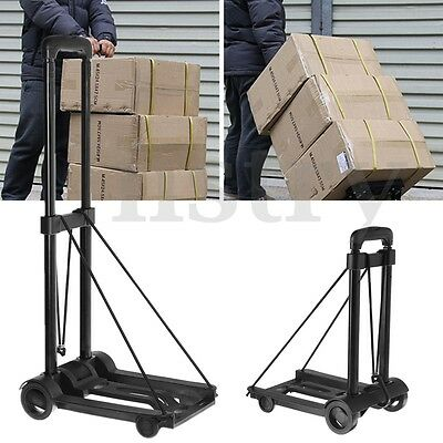 Luggage BagTrolley Truck Heavy Duty 25Kg Foldable Sack Baggage Camping Hand Cart