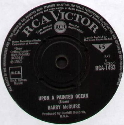 "BARRY McGUIRE ~ UPON A PAINTED OCEAN / CHILD OF OUR TIMES ~ 1965 UK 7"" SINGLE"