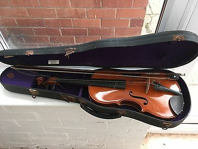 1920's Violin with Mother of Pearl Inlaid Bow