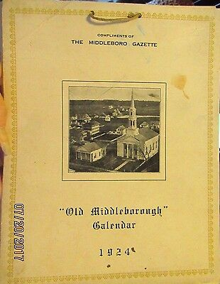 Antique Middleboro, Mass 1924 Calendar with views