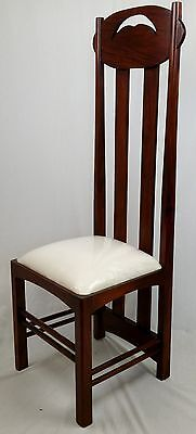 Solid Mahogany Charles Rennie Mackintosh Design Agyle Chair. Free Delivery