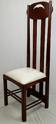 Solid Mahogany Charles Rennie Mackintosh Design Argyle Chair. Free Delivery