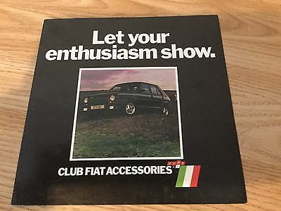 club fiat accessories  6 page brochure very good condition