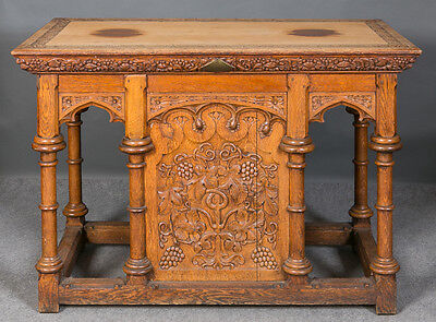 Victorian Gothic oak Altar table
