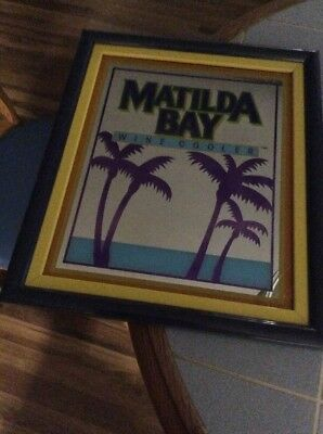 """Vintage Matilda Bay Wine Cooler Advertising.19""""x16""""Great Colors And Condition"""