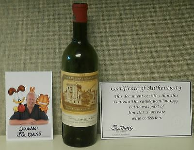 1955 Vintage wine bottle from Jim Davis's private collection.