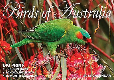 Birds of Australia 2018 Big Print Wall Calendar NEW by Bartel - Postage Included
