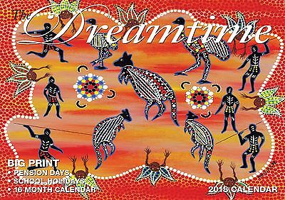 Dreamtime 2018 Big Print Wall Calendar NEW by Bartel - Postage Included