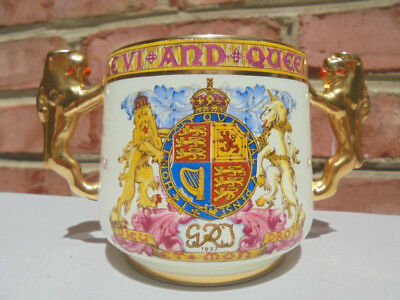 Paragon China England 1937 Loving Cup King George Queen Elizabeth Coronation