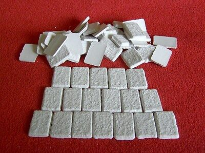 Dolls house Miniature 80 White Roof Tiles