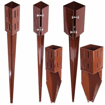 """STEEL FENCE POST SUPPORT SPIKES 3""""/4"""" Garden Drive Down Holder/Stake RUST RESIST"""