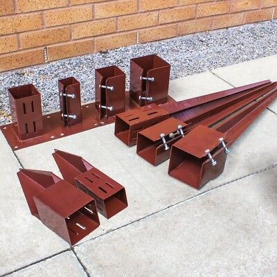 FENCE POST SPIKES & SHOES Galvanised Holders 50/75/100mm Garden Support Stakes