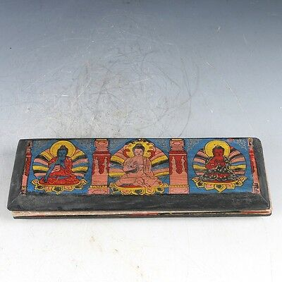 Chinese Paper Hand Painted Collection Sutra Statue  EP0205