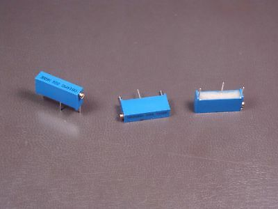 """Lot of 3 3009Y-1-502LF Bourns 3/4"""" Trimpot Trimming Potentiometer 5k Ohm 10% NOS"""