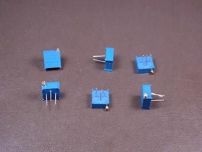 "Lot of 6 3296P-1-501 Bourns 3/8"" Trimpot Trimming Potentiometer 500 Ohm 10% NOS"