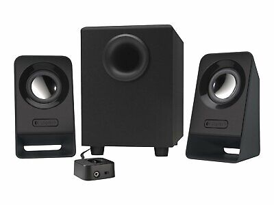 Logitech Z213 2.1 Channel Multimedia Speakers with Auxiliary Port in Black