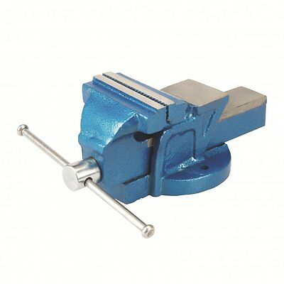 """Bench Vice Workshop Clamp Engineers 4"""" 100mm Jaw Workshop Silverline 633792 NEW"""
