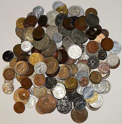 Large Collection of World Coins Over 200 Hundred Coins