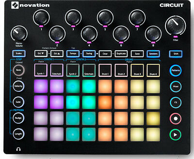 Novation Circuit Pad Synthesizer Sequencer & MIDI/USB Controller Pad