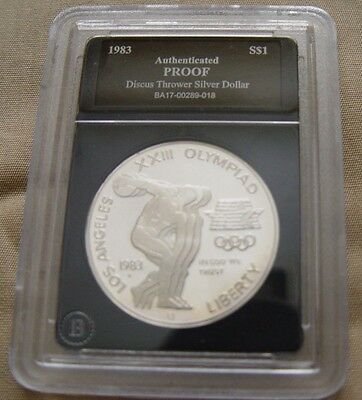 Silver 1983s Discus Thrower Silver Dollar Coin, Proof