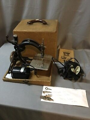 Old Willcox & Gibbs Electric Sewing Machine Westinghouse With Case