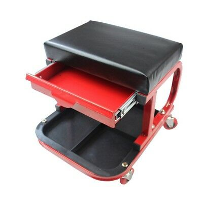 Latest Rolling Creeper Padded Seat Tools Tray Drawer Vehicle Repairing Equips
