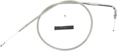 Drag Specialties 44.00 Inch Braided Stainless Idle Cable For Harley 0651-0660