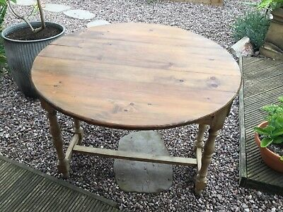 Small Antique- Pine, Drop-leaf Table.