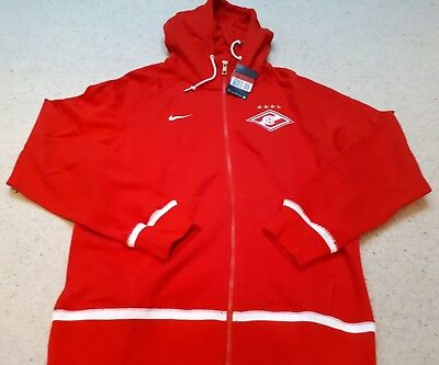 Spartak Moscow Football - Red Full Zip Hoodie by Nike - Size L - BNWT