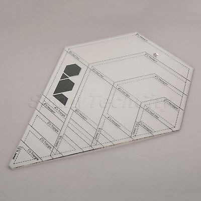 Sewing Quilting Patchwork Ruler Grid Diamond-shaped Multifunction Handmade Tools