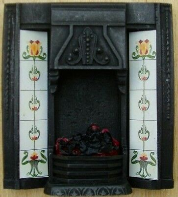 Quality Authentic Cast Iron Finish Fire Centre with Bulb (C3C), Miniatures