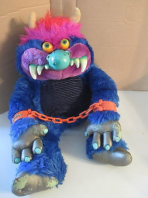 My Pet Monster Original Vintage 1984 AmToy Plush Stuffed Toy with Hand Cuffs