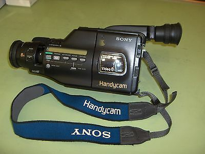 SONY HANDYCAM 8MM VIDEO CCD-F401 Camcorder -  Black