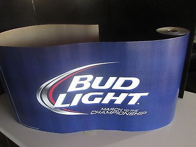 NEW 30' Bud Light March Madness Basketball Decorative Roll Banner Budweiser Beer