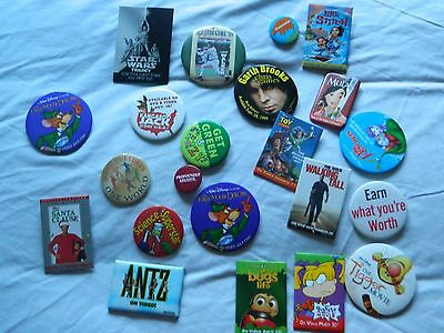 Lot of 22 Buttons, Disney Movies, School, Political Statements, Star Wars