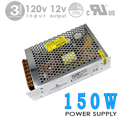 150W 12V 12.5A DC CE IP20 Indoor Power Supply/Adapter  LED-Factory (#1273)