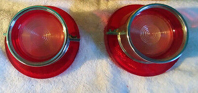 Nos 1964 Chevy Impala Back Up Lenses With Ornament  Part # 6306