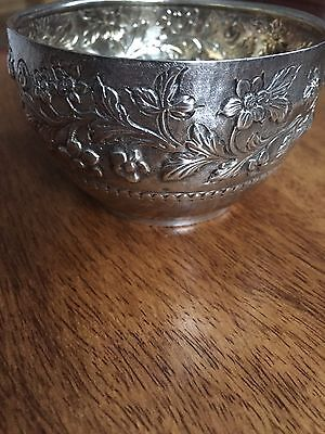 Antique sterling silver Sugar Bowl 1884 London by  Wakely and FC Wheeler