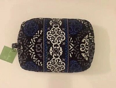 NWT Vera Bradley Travel LARGE Large Cosmetic Bag In Canterberry Cobalt