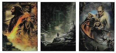 2015 Hobbit Desolation of Smaug Complete Lenticular Poster Set KA5-KA7