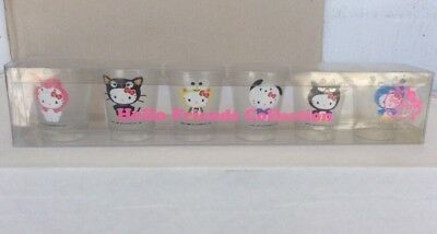 2010 Sanrio Hello Kitty Collection 50th Anniversary 6 Shot Glass Set *SEE PICS*