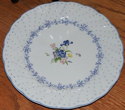 "Nikko BLUE PEONY China 7-7/8"" Salad Plate Vintage Blossomtime Floral Center"