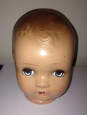 Horsman Composition Doll Head Only-Blue Sleepy Eyes