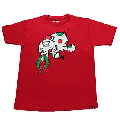 Hurley Youth Elephant Holiday T-Shirt Red S